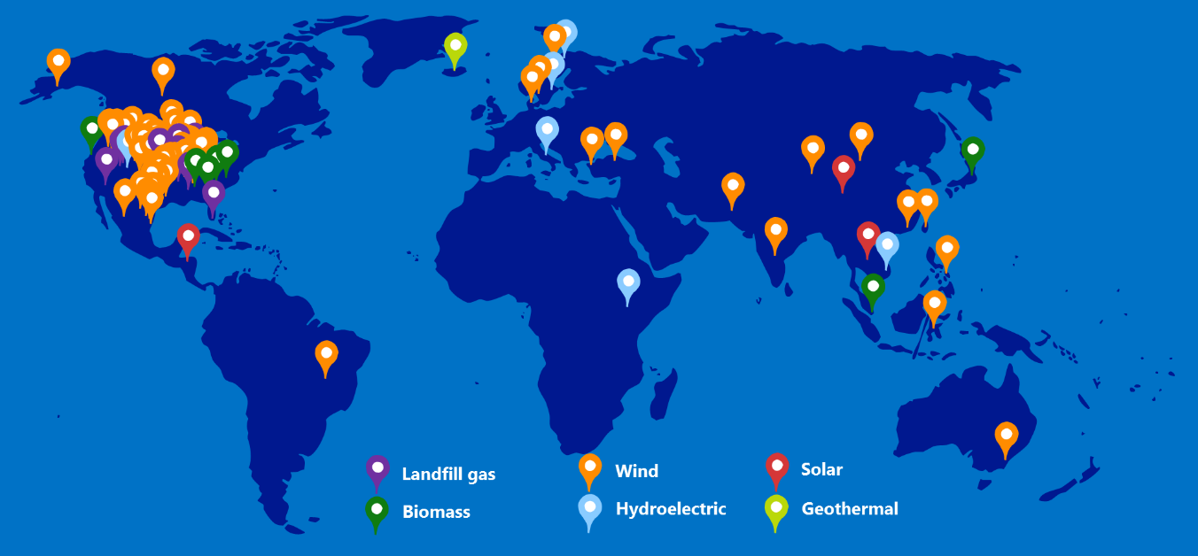 How Microsofts Carbon Fee Is Driving Climate Action Forward - Microsoft world map